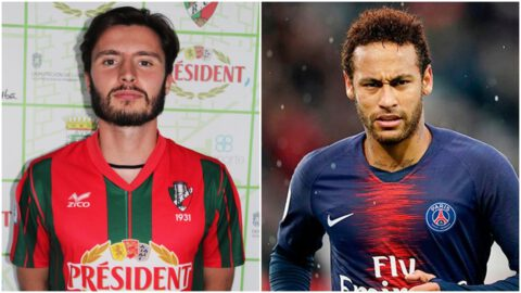 Ángel Fernández y Neymar