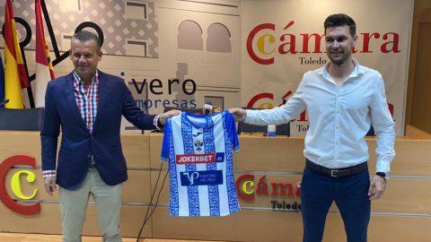 Víctor Cea en su presentación como entrenador del CF Talavera. CF Talavera