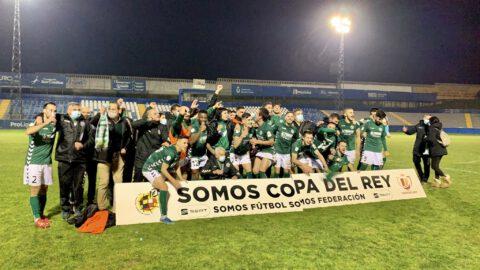 Momento histórico para el CD Marchamalo, que pasa a la siguiente ronda de la Copa del Rey. FFCLM