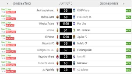 Partidos jornada 6 3ª G. XIII