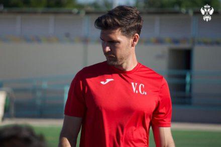 Víctor Cea en un entrenamiento en Talavera de la Reina. CF Talavera