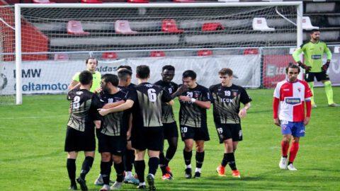 Jugadores del CD Choco celebrando un gol