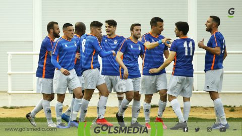 CD Jávea celebra gol