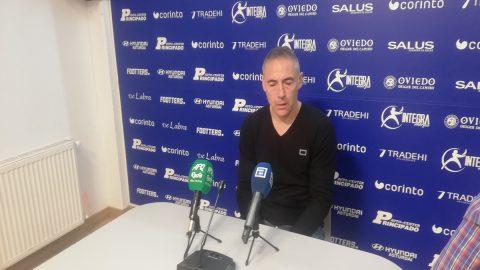 Ángel Rodríguez analiza el partido del UP Langreo ante el Racing de Ferrol