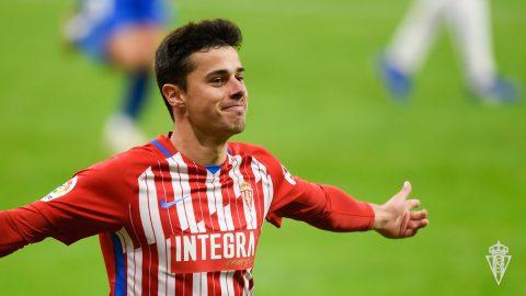 Gaspar Campos, jugador del Sporting
