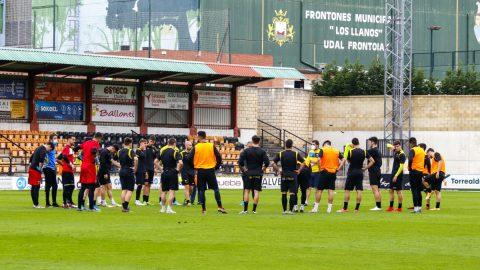 El Club Portugalete entrenando