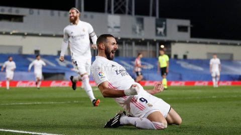 Karim Benzema celebración gol Real Madrid CF