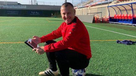Javi Moreno entrenador SD Ejea Luchán