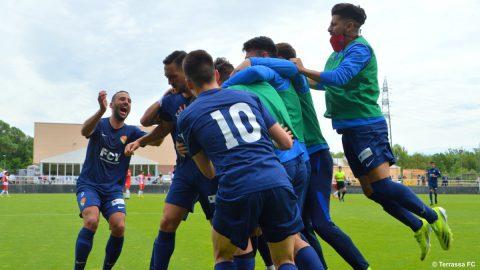 Celebración Terrassa FC