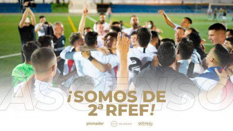 Montijo celebrando el ascenso a Segunda RFEF