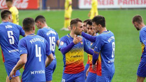Jugadores del FC Andorra celebrando