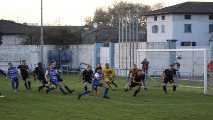 Instante de un partido disputado en el Muro de Zaro