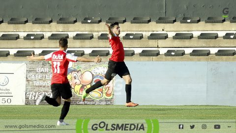 Celebración gol Buñol contra Requena