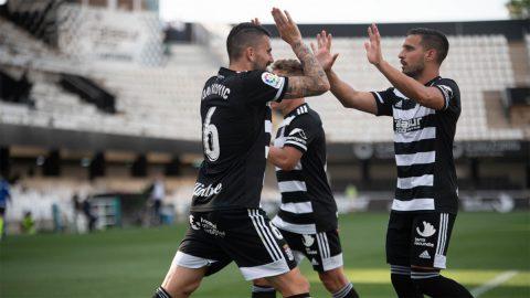 Celebrando gol FC Cartagena