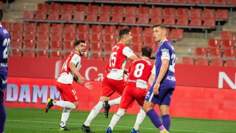Juanpe celebrando su gol