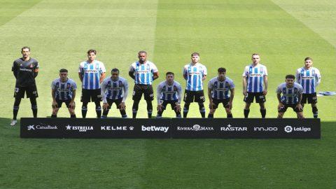 Los jugadores del Espanyol