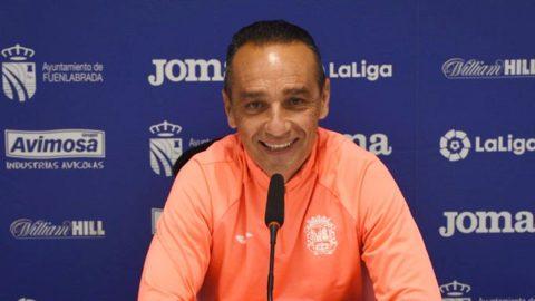 Oltra entrenador CF Fuenlabrada rueda de prensa