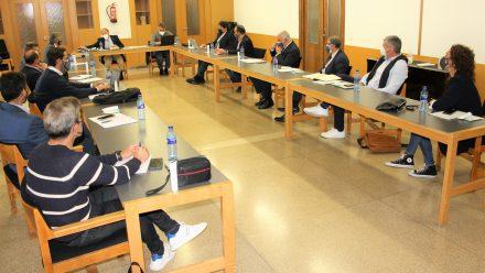 Paco Díez y Junta Directiva reunión