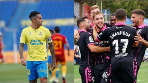 Jugadores UD Las Palmas y CD Tenerife
