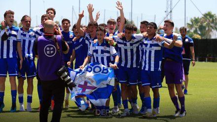 RC Deportivo celebrando Copa Campeones DHJ