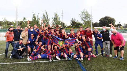 Celebración Barcelona campeón G3 DHJ