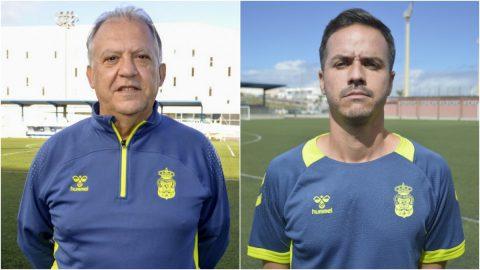 Juan Manuel Rodríguez y Yoni Oujo entrenadores Las Palmas