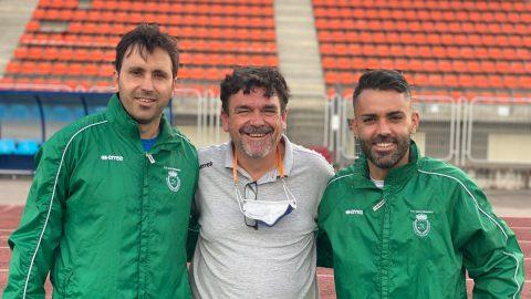 Alain y Granero cuerpo técnico CD San Fernando