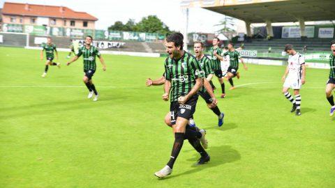 Celebreación gol Sestao final playoff
