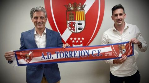 Alberto Martín entrenador AD Torrejón CF presentación