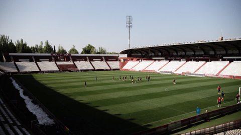 Estadio Carlos Belmonte entrenamiento Albacete