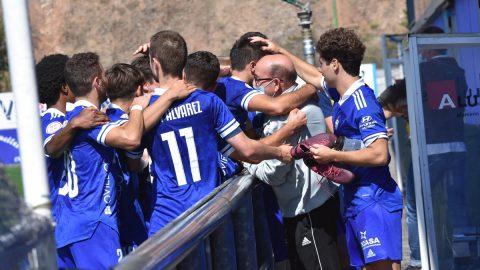 Jugadores CD Covadonga celebración