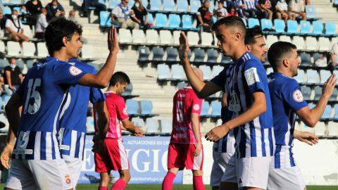 Celebración gol Gimnástica Torrelavega