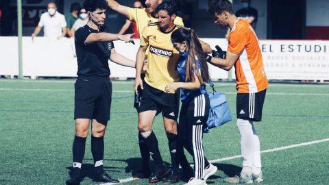 Pablo Pantiga abandona campo lesionado