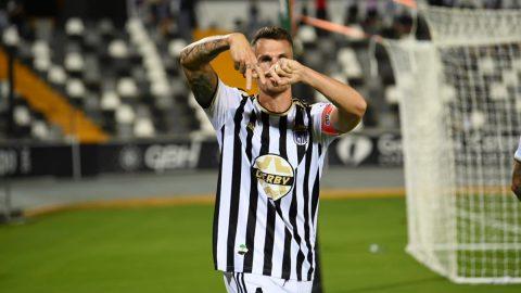 Pardo celebra gol CD Badajoz