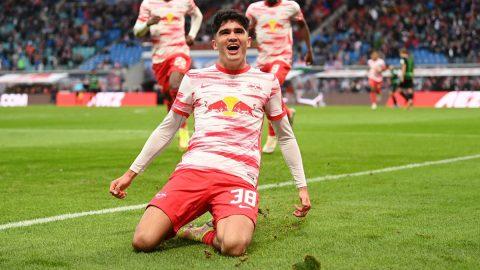 Hugo Novoa celebración gol RB Leipzig