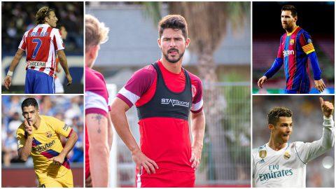 Mosaico Juan Delgado, Messi, Cristiano Forlán y Suárez